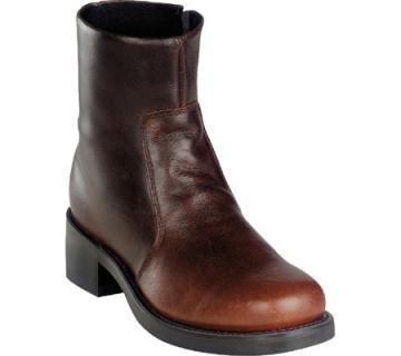 Short Western Boot - BRN Side Zip - Brown - Size 07-12