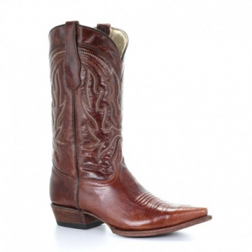 Fashion Cowboy Boot -5090 Basic Shine - Cognac - Size 07-15