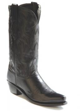 Cowboy Boots - 1510 Mens Black Cowboy - Black - Size 07-13