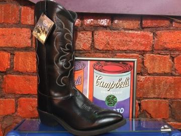 Cowboy Boots - 3010 2 Tone Blk Boot - Black - Size 07-13
