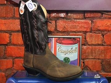 Cowboy Boots - 2073 Tan Blk Boot - Tan/ Blk  - Size 07-13