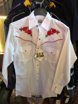 Western Shirts - 3903 White/Red Roses Western Shirt - Whiite/Red - Size S-7XL