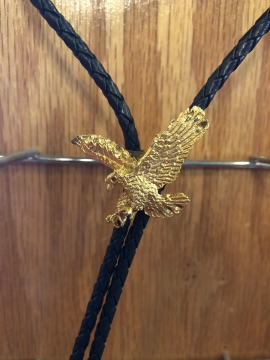 Bolo Ties - Gold Flying Eagle Bolo Tie