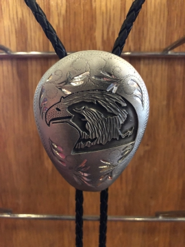 Bolo Ties - Eagle Head Oval Bolo Tie