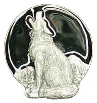 Bolo Ties - Black Wolf Head Bolo Tie