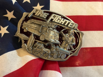 Buckles - Enamel Fire Fighter Buckle