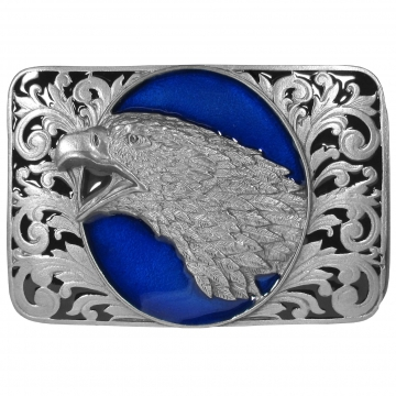 Buckles - Enamel Eagle Head Scroll Buckle