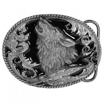 Buckles - Howling Wolf Enamel Buckle