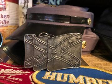 Buckles - Silver Enamel Confederate Buckle