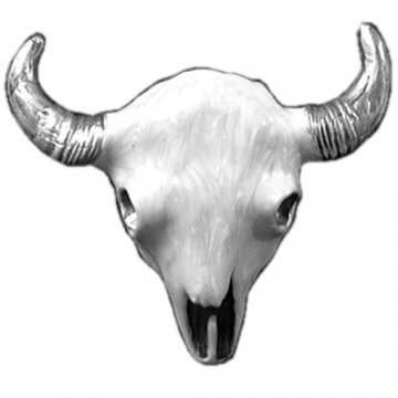 Buckles - White Buffalo Skull Head Buckle