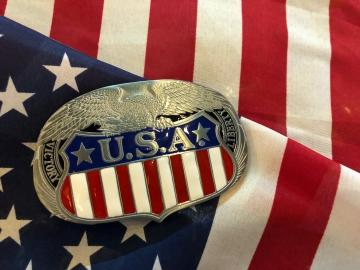 Buckles - USA Liberty Enamel Buckle