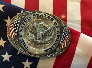 Buckles - The United States of America Eagle Enamel Buckle