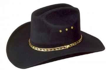 Classic Cowboy Hat - Black Cattleman Cowboy Hat - Black - Size 53-61