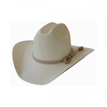 Classic Cowboy Hat - Lariot Cream Canvas Cowboy Hat/w Leather - Cream - Size 53-63