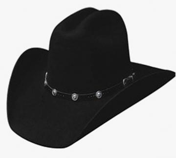 Classic Cowboy Hat - 4X Black Congress Cowboy Hat - Black - Size 53-61