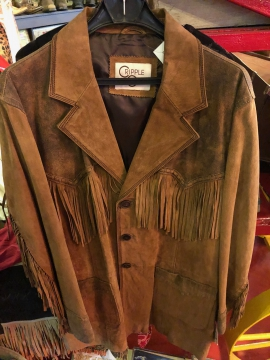 Western Jacket - Classic Brown Leather Jacket - Brown -Size M-3XL