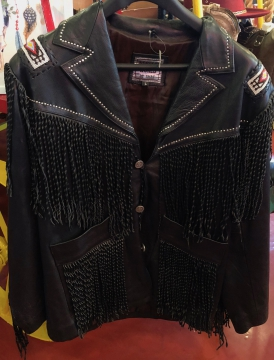 Western Jacket - Black Beaded Steven Seagal Western Jacket - Black - Size M-3XL