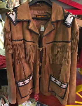 Western Jacket -Brown Beaded Steven Seagal Western Jacket -Brown - Size M-5XL