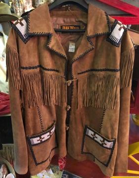 Western Jacket -Brown Beaded Steven Seagal Western Jacket -Brown - Size M-5XL