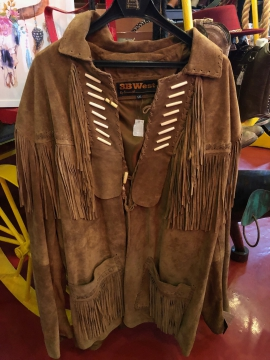 Western Jacket - Long Brown Tassle Western Jacket - -Brown -Size M-5XL