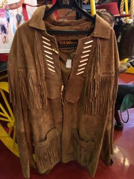 Western Jacket - Long Brown Tassle Western Jacket - -Brown -Size M-5XL