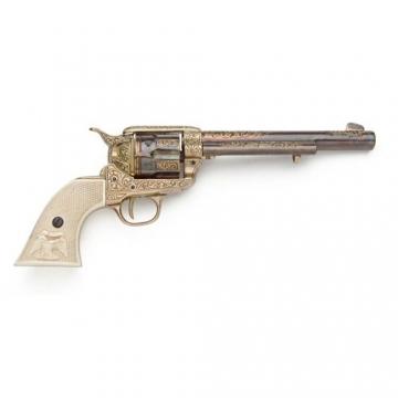 Guns - Old West Gold Engraved Revolver