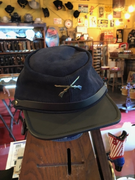 Hats - Suede Confederate Hat - Black - All size fit one