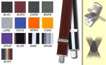 Suspenders - Classic Burgundy - Burgundy - M-XXL