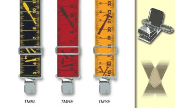Suspenders -Yellow Tape Measure -M-XXL