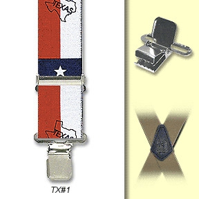 Suspenders - Texas Flag -M-XXL