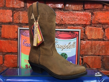 Cowboy Boot - 4112 Gaucho Brown Ladies Boot - Brown - 6-10