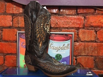 Fashion Cowboy Boots - 2549 Brown Wings - Brown - 6-10