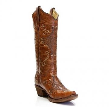 Fashion Cowboy Boots - 5063 Cognac Brown Boots - Cognac Brown-6-10