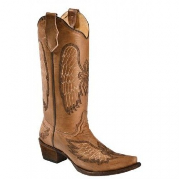 Fashion Cowboy - 5045 Cognac Wings & Crosses - Cognac - 6-12