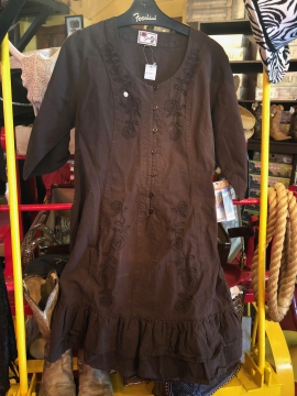 Western Dress - El Passo - Chocolate - Size S-XL