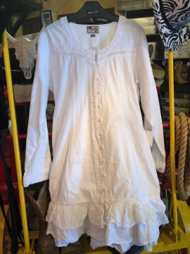 Western Dress - Angel - White - Size S-XL