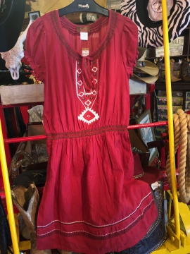 Western Dress - Señorita - Red - Size S-XL