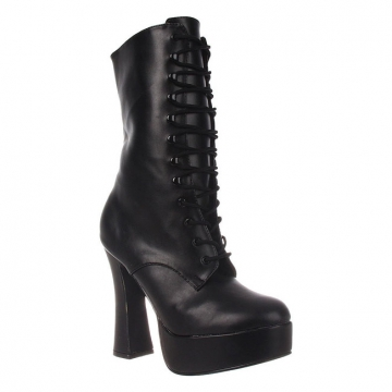 Ladies Fashion Boots - 1020 Electra Black Heels - Black - Size 6-13