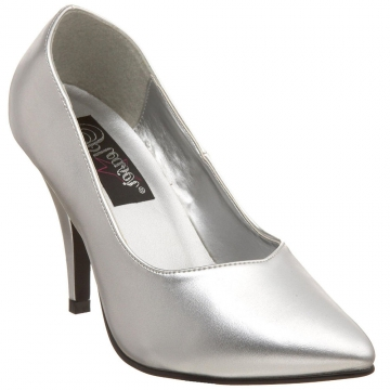 Ladies Fashion Heels - 420 Silver High Heels - Silver - Size 6-16