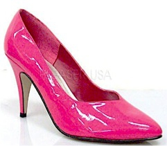 Ladies Fashion Boots - 420 Hot Pink High Heel - Hot Pink - Size 6-16