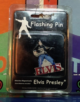 Novelties- Elvis Silhouette Flashing Pin