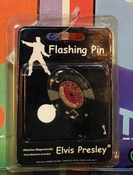 Novelties - Elvis Heart Flashing Pin