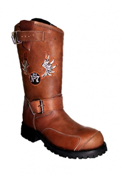 Footwear - Jack Daniels Round Toe Engineer Boot -Brown - Size 6.5-13