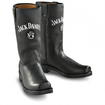 Footwear - Jack Daniels Square toe Boot - Black - Size 6.5-13
