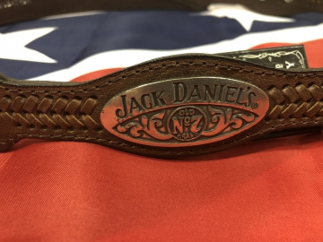 Belts - Brown Floral Jack Daniels Logo Belt