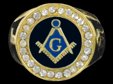 Jewellery - Gold Masonic Ring - Gold - Size 8- 13