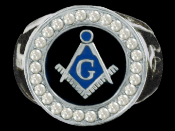 Jewellery - Silver Masonic Ring - Silver - Size 8-13