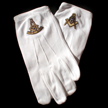 Accessories - White Gloves with gold trimming