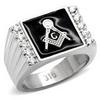 Jewellery - Steel Masonic Ring - Size 8-13