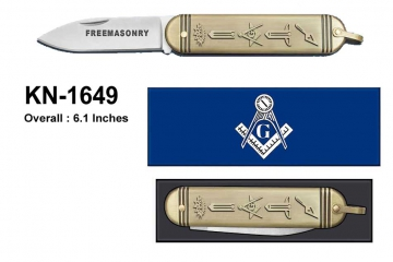 Knives - Antique Gold Masonic Knife